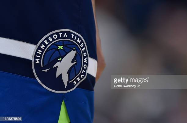 General view of the Minnesota Timberwolves logo shown on game shorts in a NBA game against the Utah Jazz at Vivint Smart Home Arena on January 25,...
