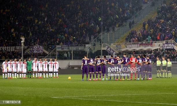General view of the minute recollection observed in memory of Narciso Parigi during the Serie A match between ACF Fiorentina and Genoa CFC at Stadio...