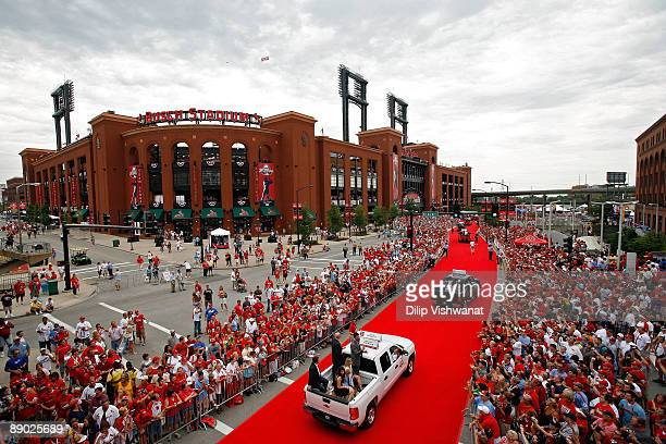 General view of the MLB All-Star Game Red Carpet Parade on July 14, 2009 in St Louis, Missouri.