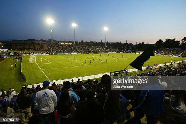 General view of the MLS game between the San Jose Earthquakes and FC Dallas at Buck Shaw Stadium on May 3, 2008 in Santa Clara, California.
