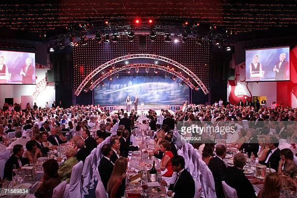 A general view of the Monaco Red Cross Ball under the Presidency of HSH Prince Albert II in the Salles des Etoiles at the Sporting MonteCarlo on...