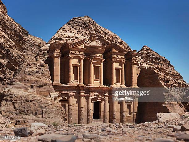 A general view of the Monastery building at Petra on March 29 2013 in Petra Jordan