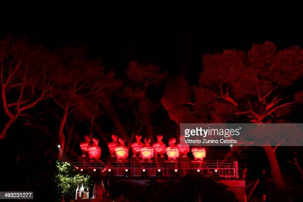 A general view of the Moncler The After Party To Benefit amfAR at Hotel du CapEdenRoc on May 22 2014 in Cap d'Antibes France
