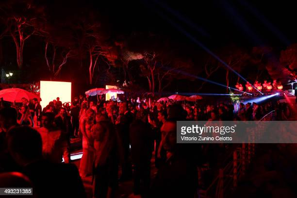 General view of the Moncler, The After Party To Benefit amfAR at Hotel du Cap-Eden-Roc on May 22, 2014 in Cap d'Antibes, France.