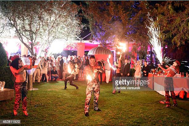 General view of the Monika Bacardi Summer Party 2014 St Tropez at Les Moulins de Ramatuelle on July 27 2014 in SaintTropez France
