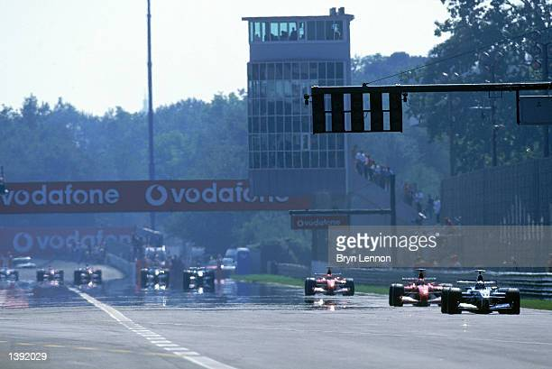 General view of the Monza Grandstand straight taken during the FIA Formula One Italian Grand Prix held at the Autodromo di Monza in Monza, Italy on...