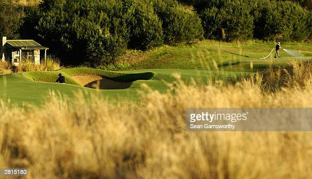 A general view of the Moonah Links golf course during a practice day prior to the 2003 Australian Open Golf Tournament at Moonah Links December 17...