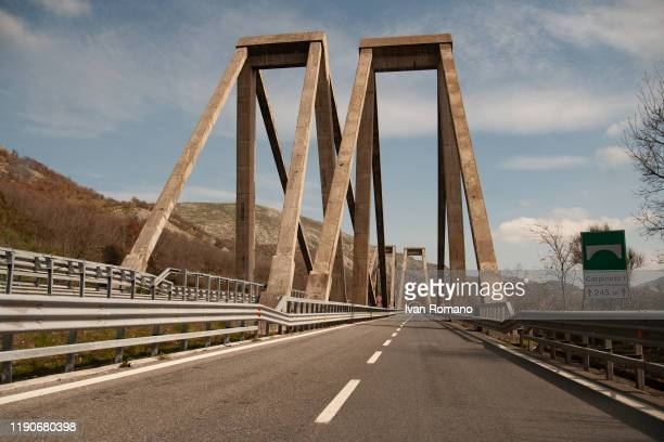 A general view of the Morandi bridge in Vietri of Potenza on November 28 2019 in Potenza Italy The bridge was built by the engineer Riccardo Morandi...