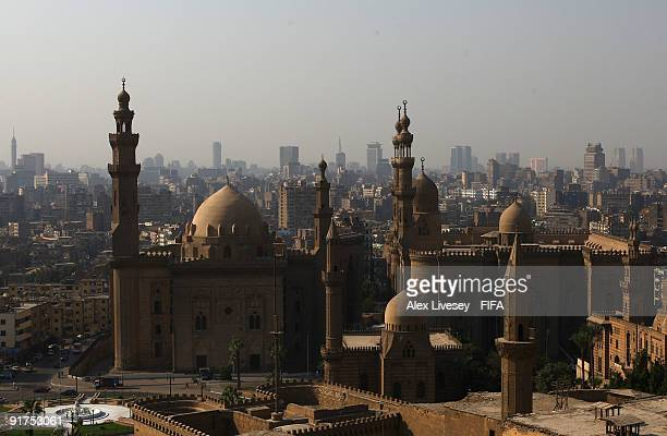 A general view of The Mosque of Sultan Hassan and the city of Cairo is seen from The Citadel on October 11 2009 in Cairo Egypt