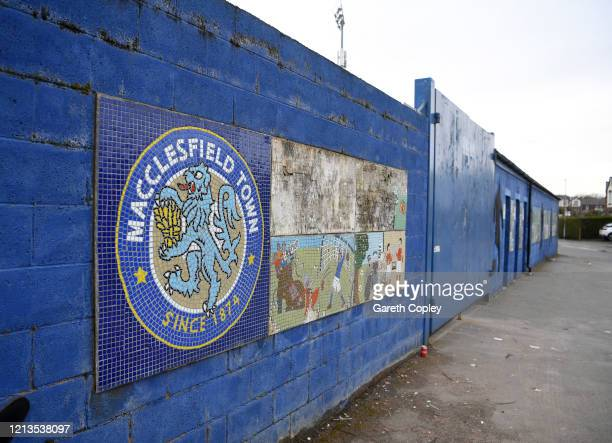 General view of the Moss Rose, home of Macclesfield Town on March 19, 2020 in Macclesfield, England.