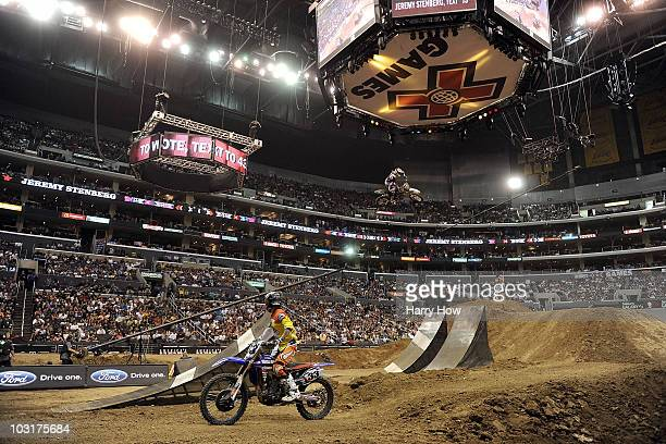 General view of the Moto X Best Whip Final during X Games 16 at the Nokia Theatre LA Live on July 30 2010 in Los Angeles California