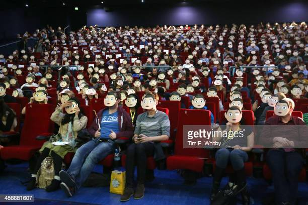 General view of the movie theatre prior the 'Frank' screening during the Sundance London Film and Music Festival 2014 at 02 Arena on April 25 2014 in...