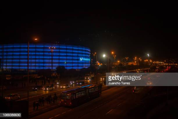 General view of the Movistar Arena during an AAA World Wide Wrestling match on November 16 2018 in Bogota Colombia