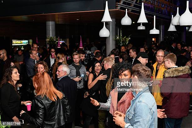 General view of the Moxy Berlin Hotel Opening Party on October 20, 2016 in Berlin, Germany.