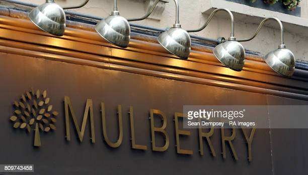 A general view of the Mulberry shop in Floral Street London