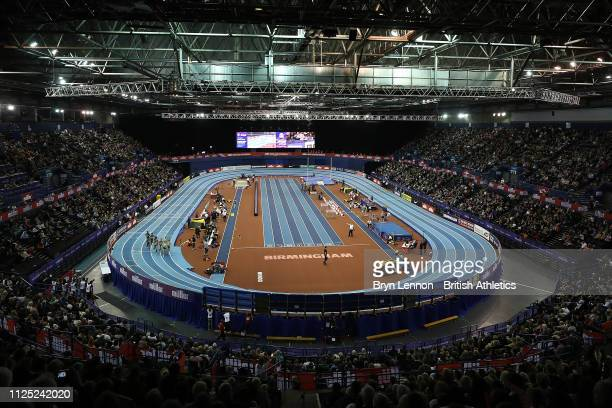A general view of the Muller Indoor Grand Prix at the Arena Birmingham on February 16 2019 in Birmingham England