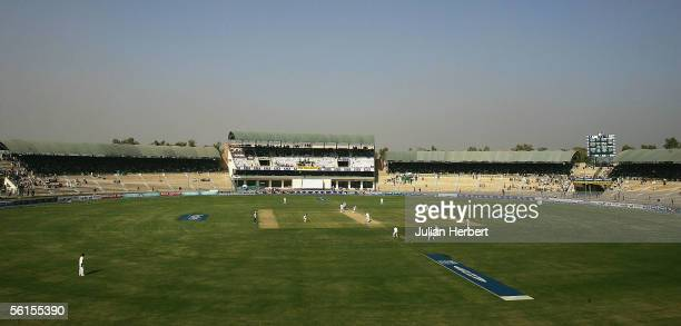 A general view of The Multan Cricket Stadium on day three of the 1st Test Match between England and Pakistan on November 14 2005 in Multan Pakistan