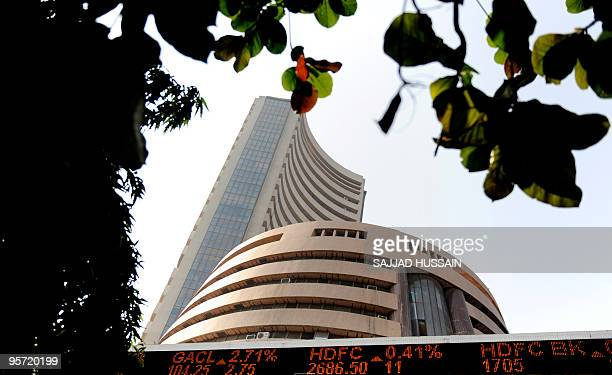 A general view of the Mumbai Stock Exchange building in Mumbai on January 4 2010 India's stock markets were trading 064 percent higher or 11243...