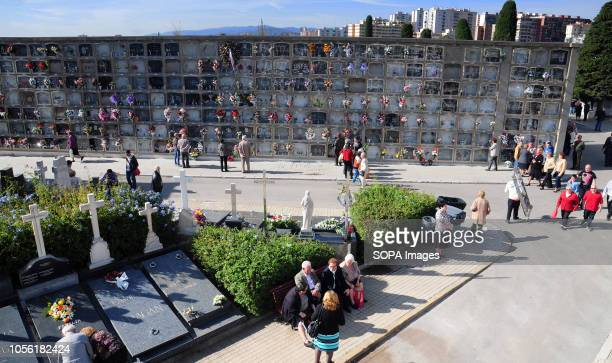 HOSPITALET BARCELONA SPAIN General view of the Municipal Cemetery of L'Hospitalet City on all Saints day Spain celebrates the day of the dead where...
