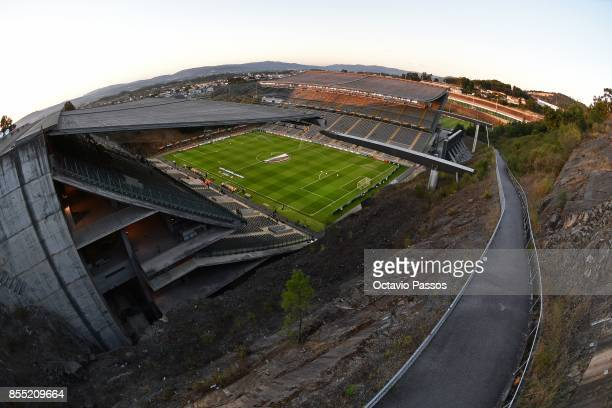 General view of the Municipal de Braga stadium prior to the beginning of the UEFA Europa League group C match between Sporting Braga and Istanbul...