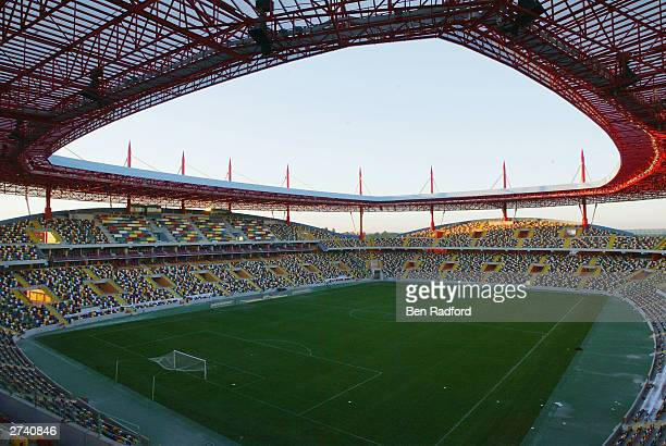 A general view of the Municipal Stadium Aveiro November 18 2003 Aveiro Portugal Aveiro is one of the host cities for the UEFA European Football...