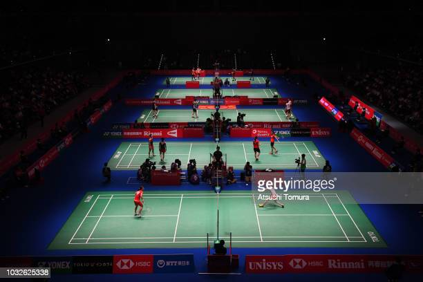 General view of the Musashino Forest Sports Plaza on day three of the Yonex Japan Open at Musashino Forest Sports Plaza on September 13, 2018 in...