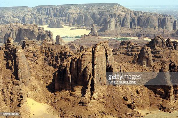 A general view of the Nabataean archaeological site of alHijr near the northwestern town of alUla Saudi Arabia on September 30 2012 Dating back to...