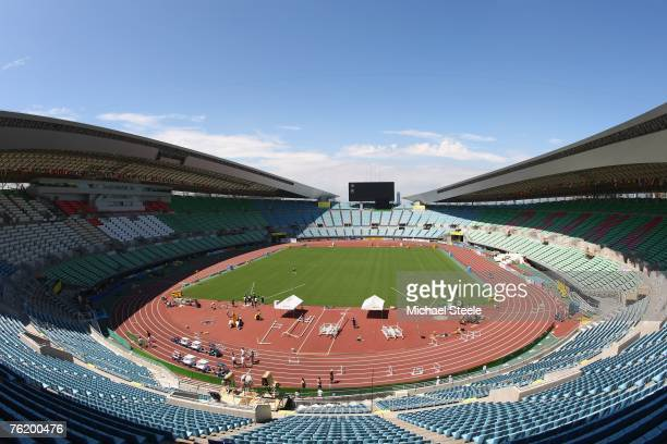 General view of the Nagai Stadium venue for the 11th IAAF World Championships in Athletics on August 21 2006 in Osaka Japan