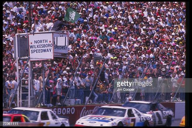 General view of the NASCAR First Union 400 at North Wilkesboro Speedway in North Wilkesboro North Carolina