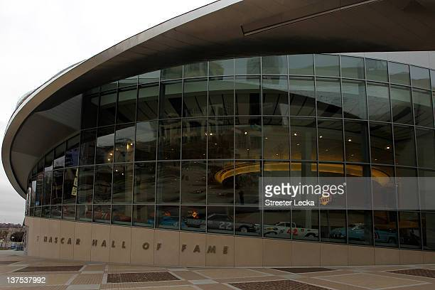 A general view of the NASCAR Hall of Fame during the NASCAR Hall of Fame Inductee Exhibit Unveiling on January 22 2012 in Charlotte North Carolina