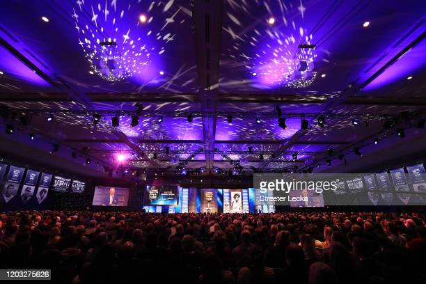 A general view of the NASCAR Hall of Fame Induction Ceremony at the Charlotte Convention Center on January 31 2020 in Charlotte North Carolina