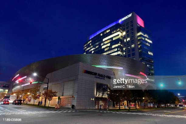 A general view of the NASCAR Hall of Fame prior to the NASCAR Xfinity Series and NASCAR Gander Outdoors Truck Series Championship Banquet at...