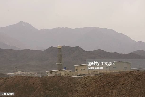 A general view of the Natanz nuclear enrichment facility is seen on April 9 180 miles south of Tehran Iran Iranian President Mahmoud Ahmadinejad...