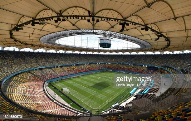General view of the National Arena stadium ahead of the UEFA Euro 2020 Championship Group C match between Ukraine and Austria at National Arena on...