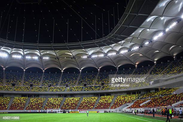 General view of the National Arena stadium during the UEFA Europa League Group J match between FC Steaua Bucuresti and Aalborg BK on September 18,...