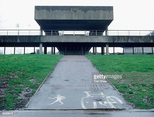 General view of the National Athletics Stadium at Crystal Palace on February 12, 2004 in London. It was feared that he stadium would close damaging...