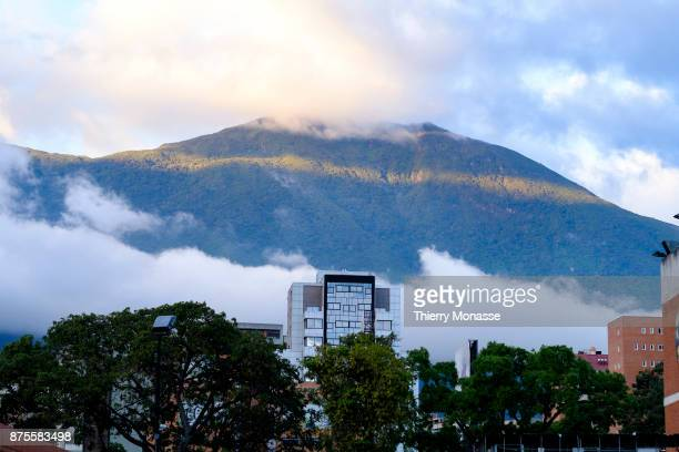 A general view of the National Park El Avila a natural reserve of forests and animals that overlooks the entire city of Caracas from the North on...