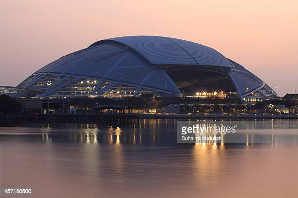 A general view of the National Stadium at the Singapore Sports Hub with the dome fully closed on October 14 2014 in Singapore The National Stadium is...