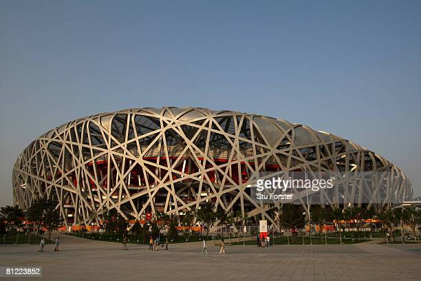 General view of the National Stadium, known as the 'Birds Nest' during day three of the Good Luck Beijing 2008 China Athletics Open at National...
