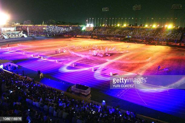 General View of the National Stadium of Flora Blanca during the opening ceremony of the XIX Central American and Caribbean Games 2002 in San Salvador...
