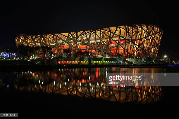General view of the National Stadium on Day 14 of the Beijing 2008 Olympic Games on August 22, 2008 in Beijing, China.