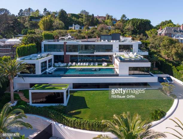 A general view of the nation's most expensive home for sale listed with a price tag of $250 million on March 23 2017 in Los Angeles California The...