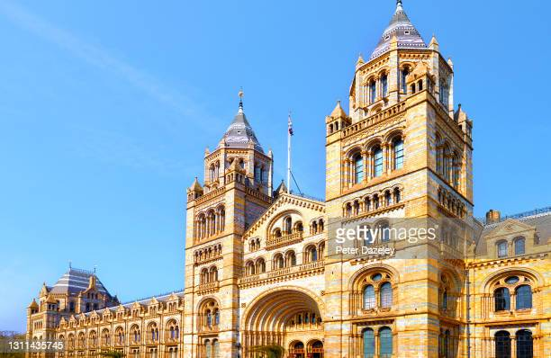 General View of the Natural History Museum on April 15,2019 in London, England.