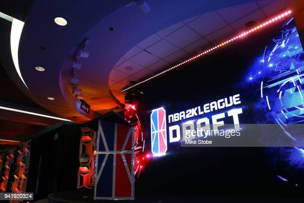 A general view of the NBA 2K League Draft at Madison Square Garden on April 4 2018 in New York City