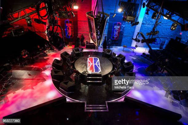 A general view of the NBA 2K League Studio during the NBA 2K League media availability on April 30 2018 in Long Island City New York NOTE TO USER...
