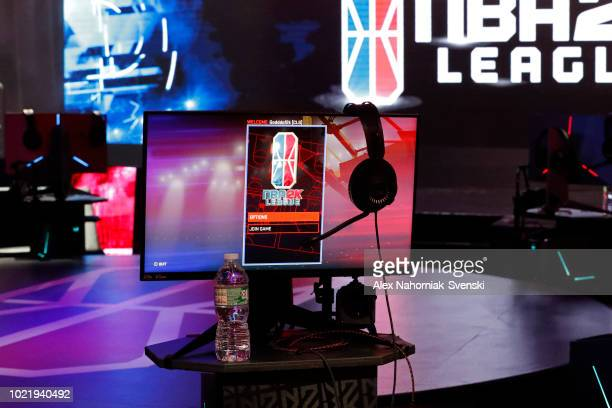 A general view of the NBA 2K playing screen before the game between Cavs Legion Gaming Club and Celtics Crossover Gaming on August 3 2018 at the NBA...