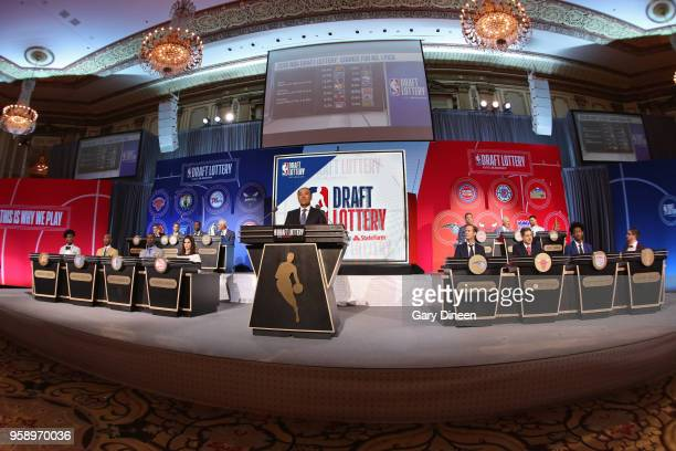 A general view of the NBA Deputy Commissioner Mark Tatum during the 2018 NBA Draft during the NBA Draft Lottery on May 15 2018 at The Palmer House...