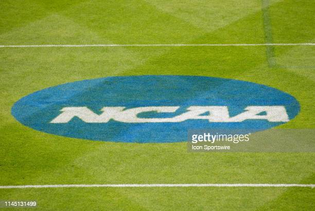 General view of the NCAA logo prior to the Division 1 quarterfinal game between Loyola Greyhounds and Penn State Nittany Lions on May 19 at...