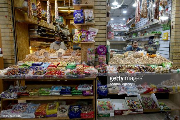 A general view of the nearly empty bazaar amid the novel coronavirus pandemic and financial crisis ahead of the Eid alAdha in Erbil Iraq on July 28...