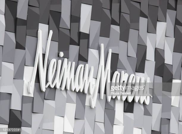 A general view of the Neiman Marcus sign as photographed on March 20 2020 in Garden City New York